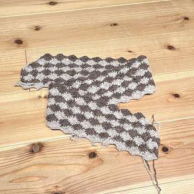 フード編み進め